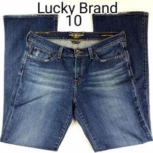 Lucky Brand Stark Sweet Low Boot Jean Like New 10